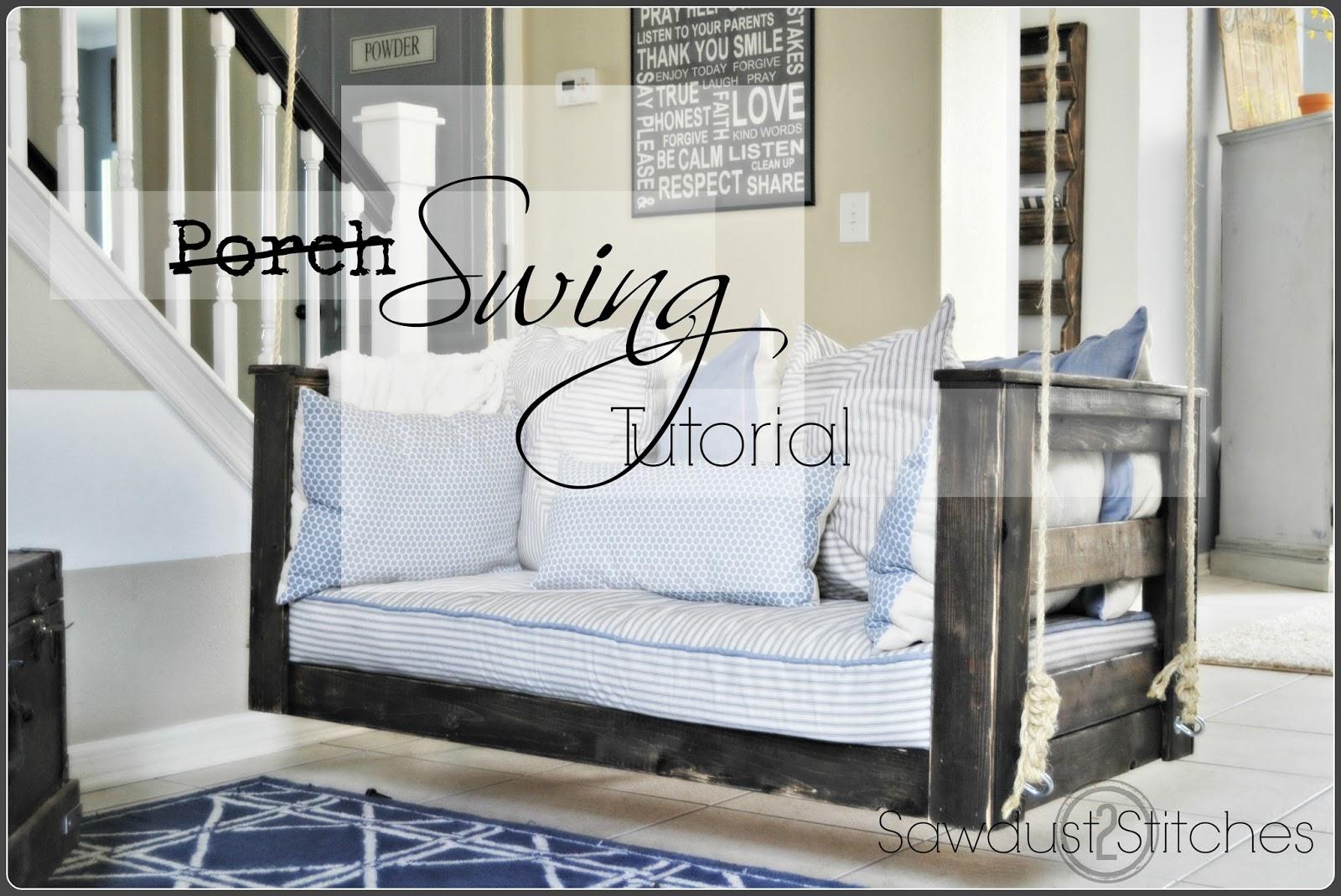 Crib Mattress Porch Swing Cute Diy Projects