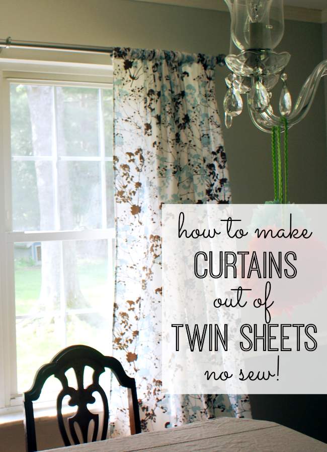 Curtains Out of Twin Sheets