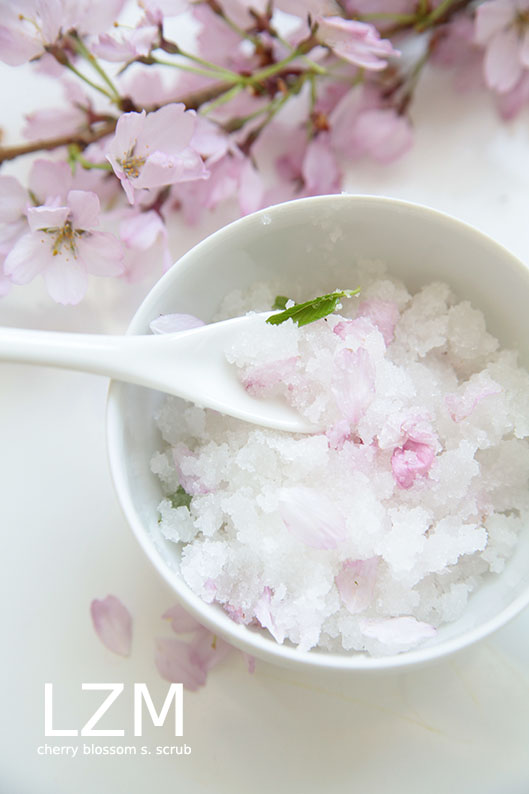 DIY Cherry Blossom Sugar Scrub