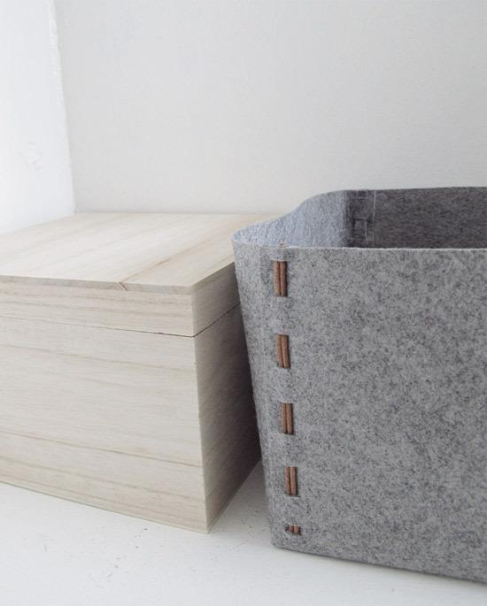 DIY No-Sew Felt Storage Box