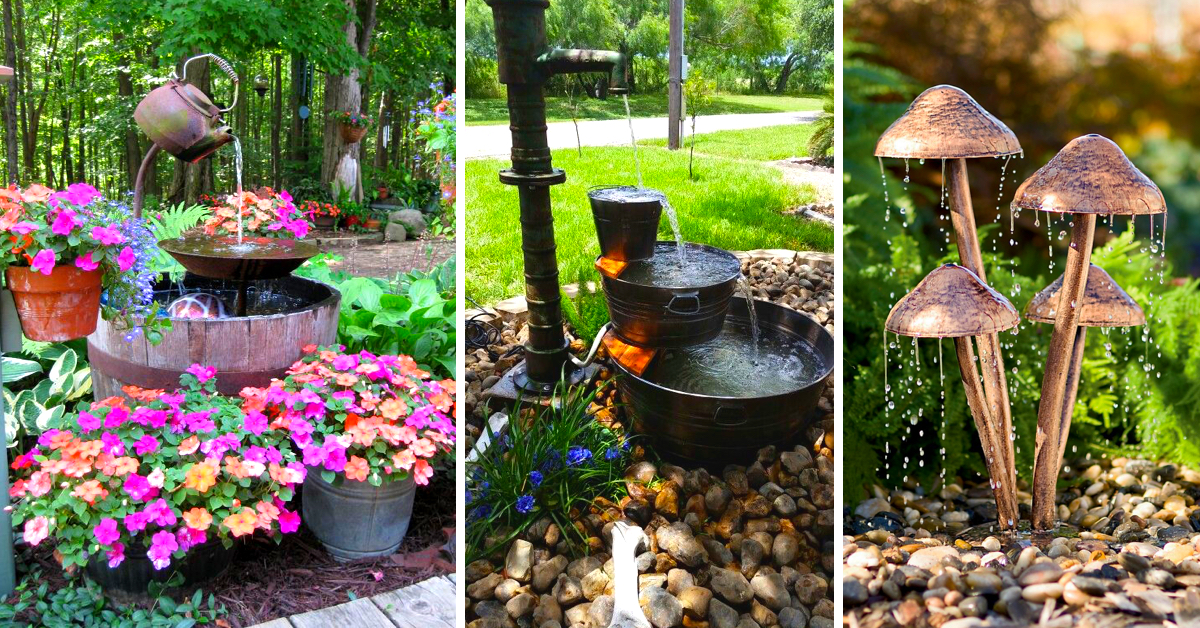 20 Diy Outdoor Fountain Ideas Brightening Up Your Home