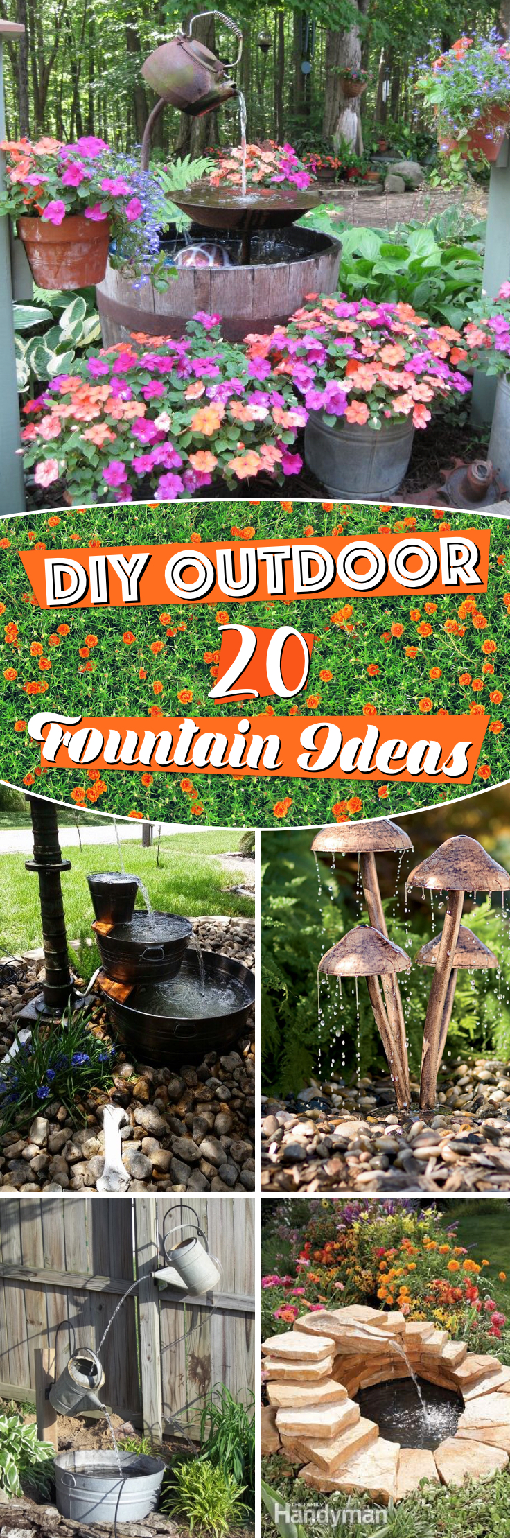 20 Diy Outdoor Fountain Ideas Brightening Up Your Home With