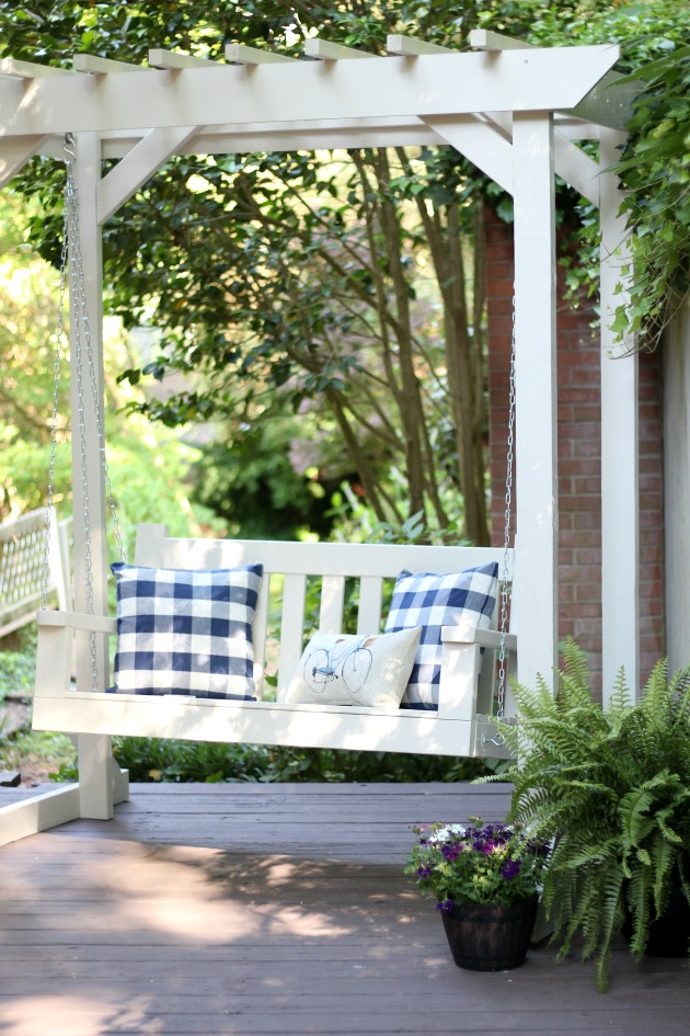 DIY Porch Swing and Pergola