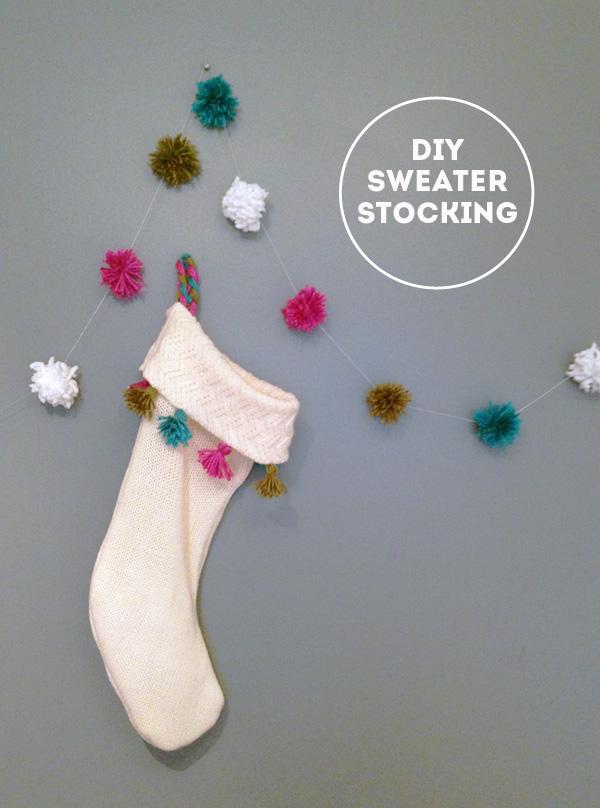 DIY Repurposed Sweater Stockings