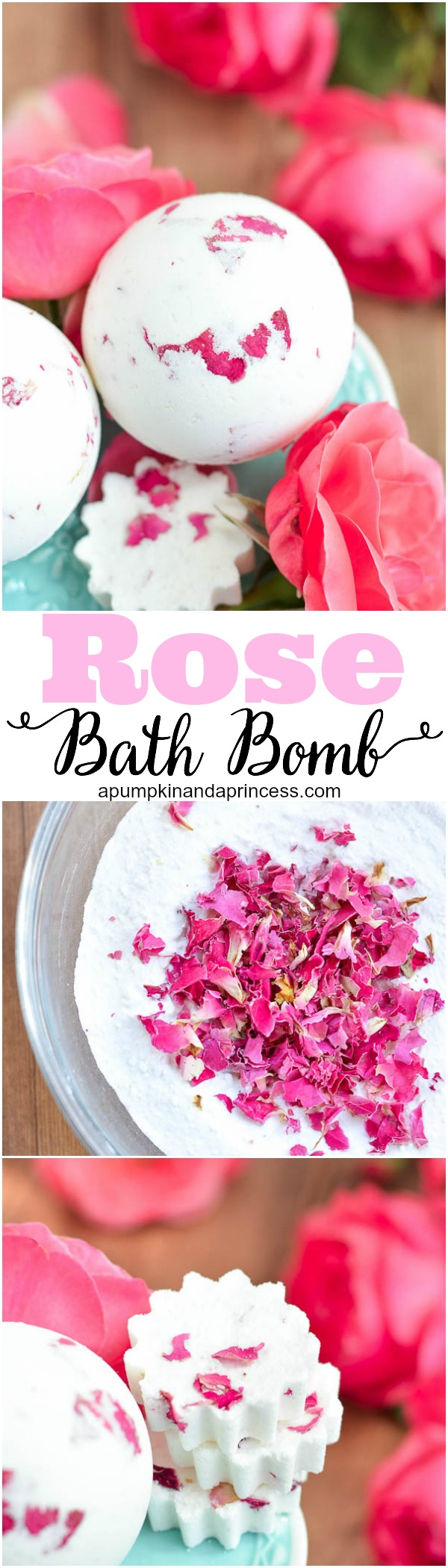 DIY Rose and Milk Bath Bomb