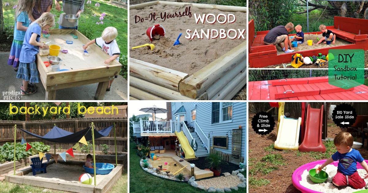 25 awe inspiring diy sandbox ideas for a fun filled summer playtime solutioingenieria Choice Image