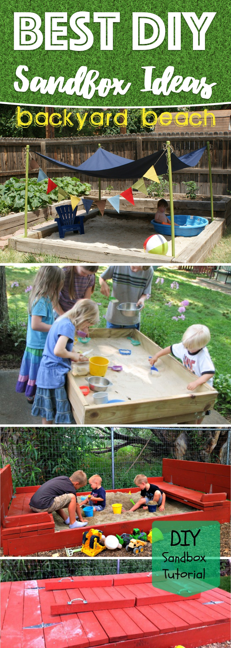 25 awe inspiring diy sandbox ideas for a fun filled summer playtime