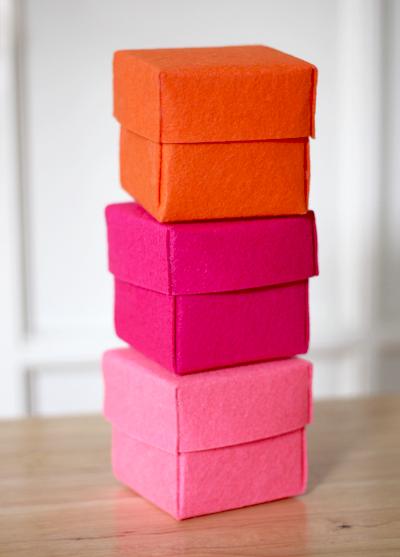 DIY Stiffened Felt Boxes