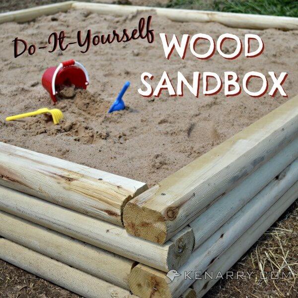 DIY Wood Sandbox Tutorial