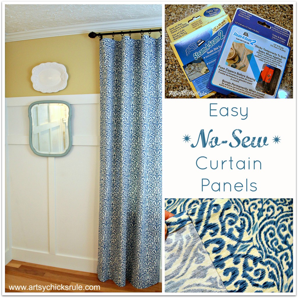 Easy No-Sew Curtain Panels