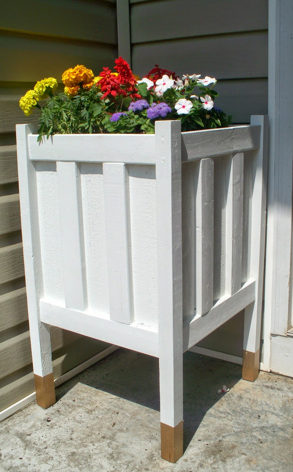Front Porch Planter With Gold Dipped Legs