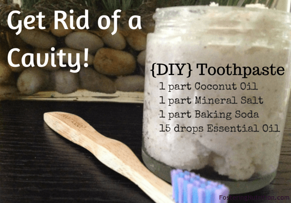 Get Rid of a Cavity : DIY Toothpaste