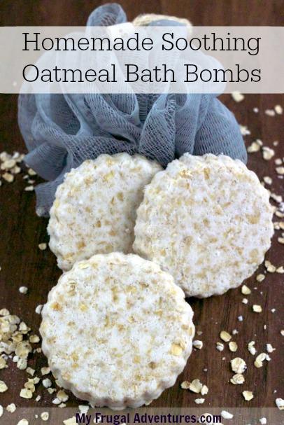 Homemade Oatmeal Bath Bombs