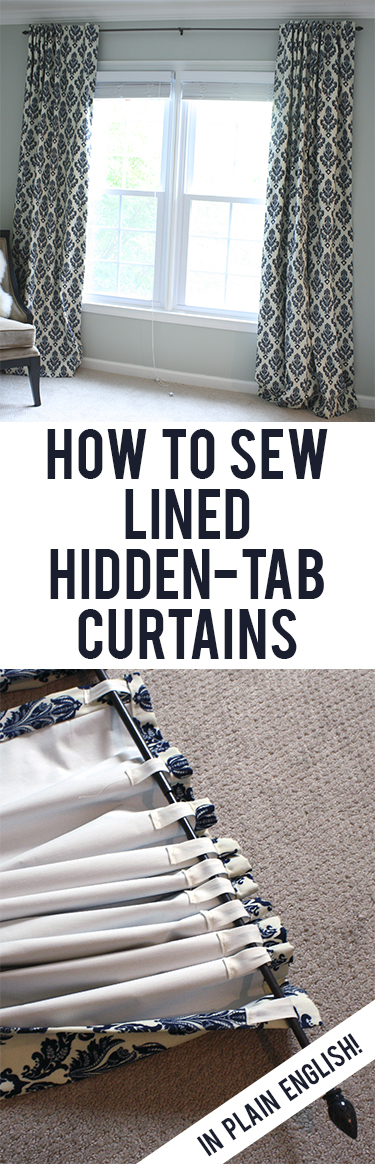 How to Sew Lined Back-Tab Curtains
