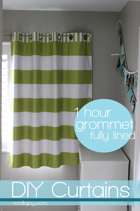Lined, Grommet Top Curtain Tutorial