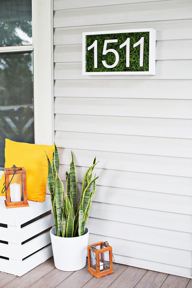 Modern House Number DIY