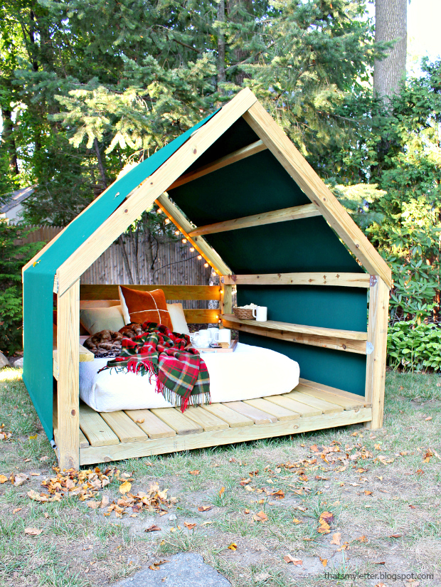 25 breathtaking diy outdoor furniture ideas for Garden cabana designs