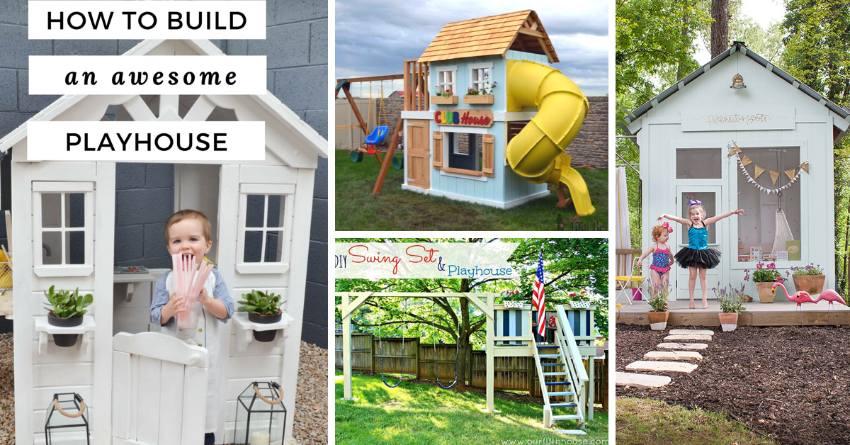 25 Amazing Outdoor Playhouse Ideas To Keep Your Kids Occupied