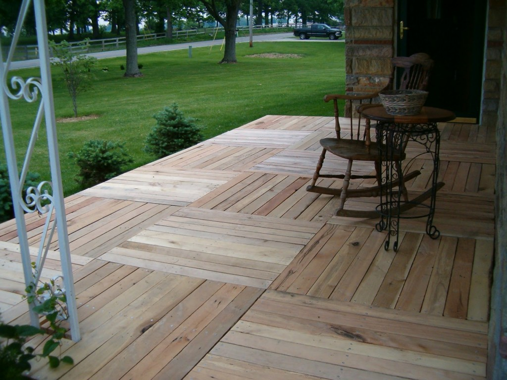 Pallet Wood Front Porch