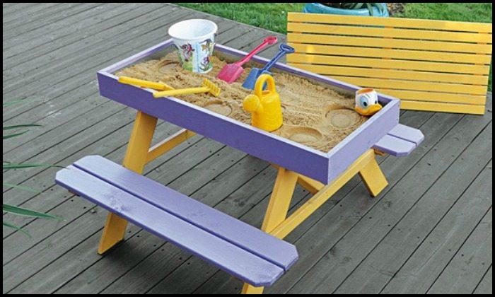 Picnic Table and Sandbox Combo
