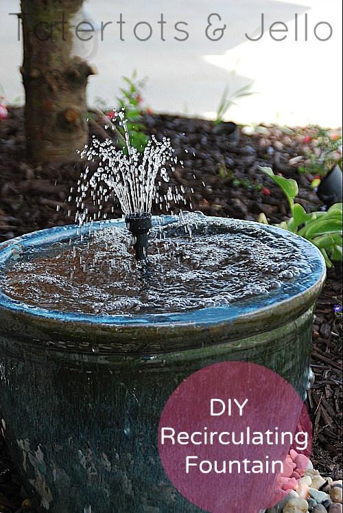 Recirculating Ceramic Pot Fountain