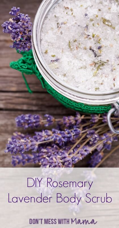 Rosemary Lavender Homemade Body Scrubs
