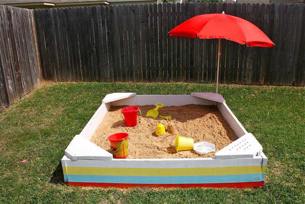Striped Backyard Sandbox