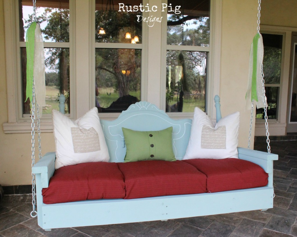 Summer Back Porch Headboard Swing