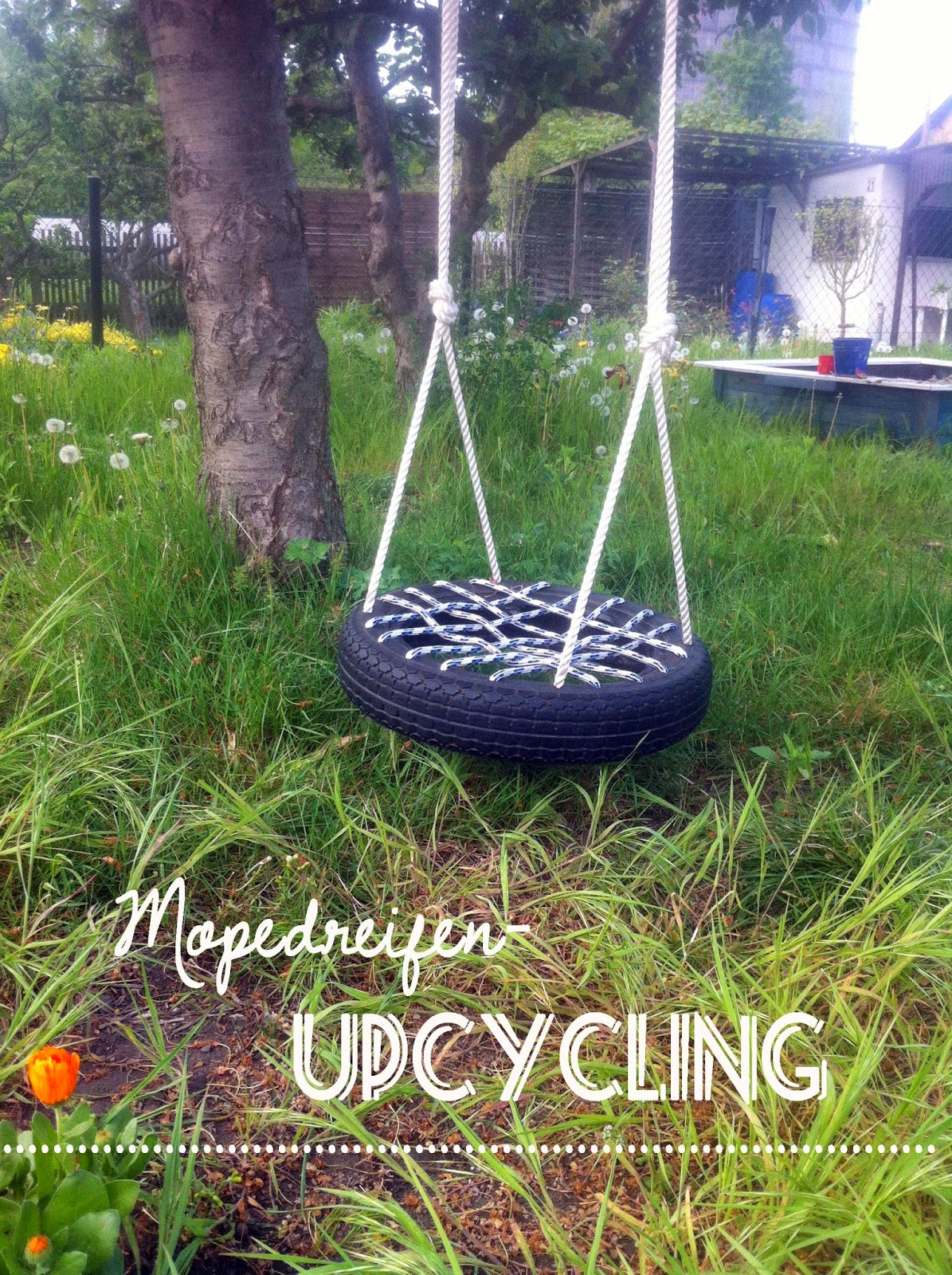 Upcycled Tyre Kids Swing
