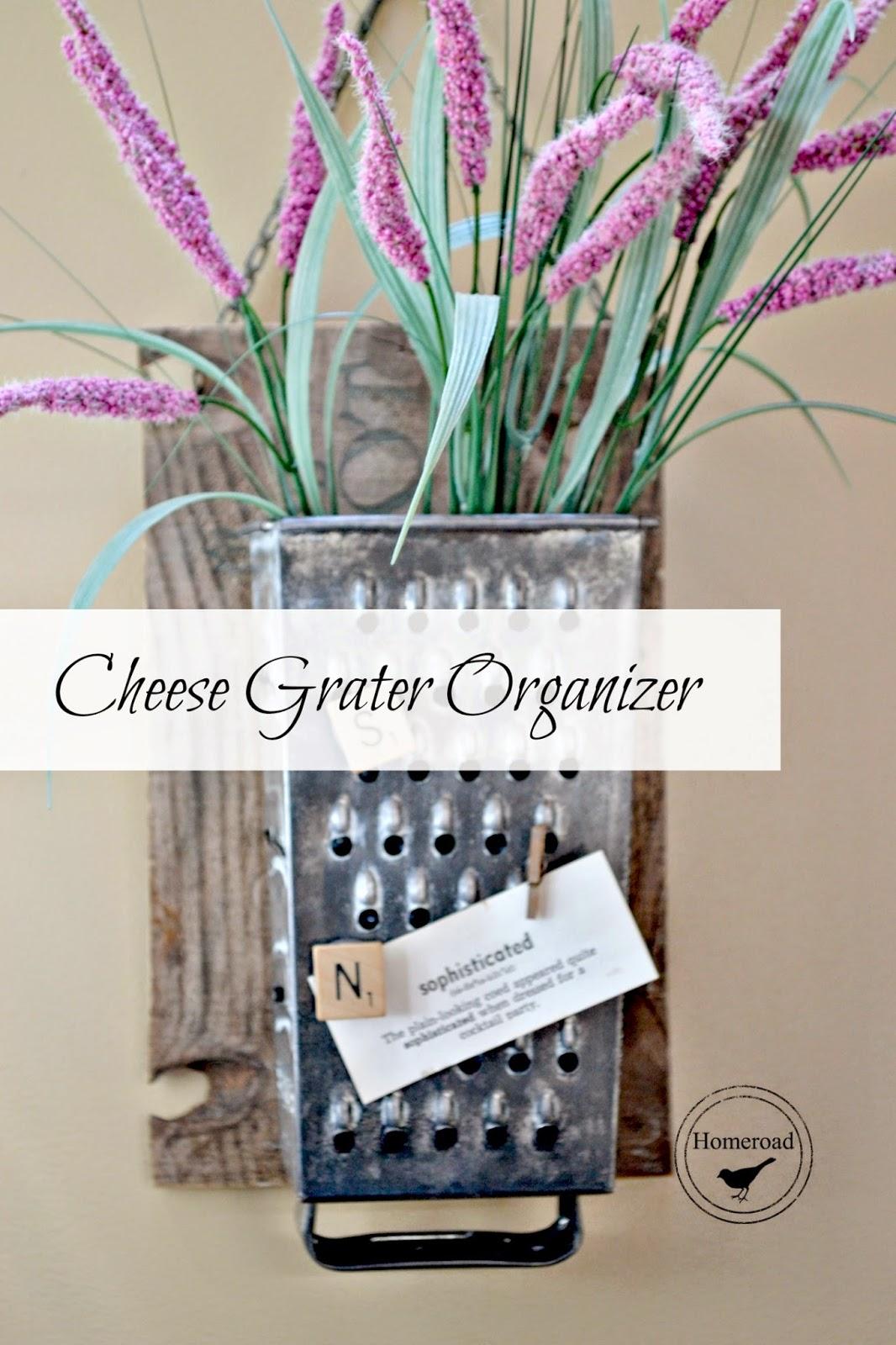 Vintage Cheese Grater Organizer