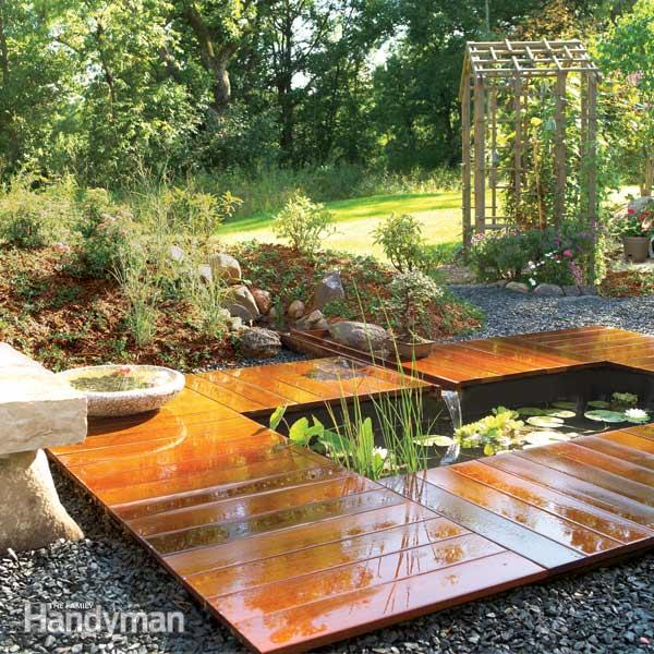 20 innovative diy pond ideas letting you build a water for Designing a garden from scratch