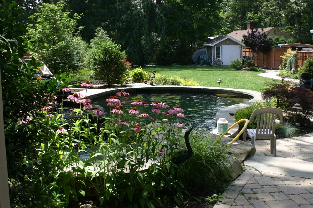 20 innovative diy pond ideas letting you build a water for Concrete garden pond