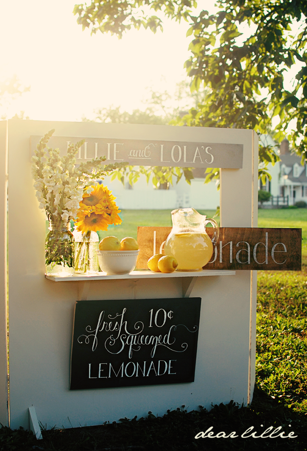 Crooked Signboard Lemonade Stand