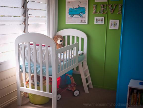 DIY Crib into Loft Toddler Bed