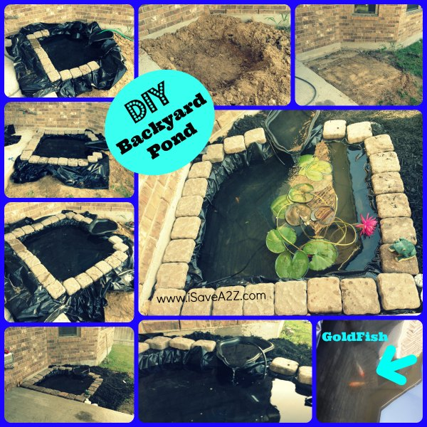 20 innovative diy pond ideas letting you build a water for Build a simple backyard waterfall
