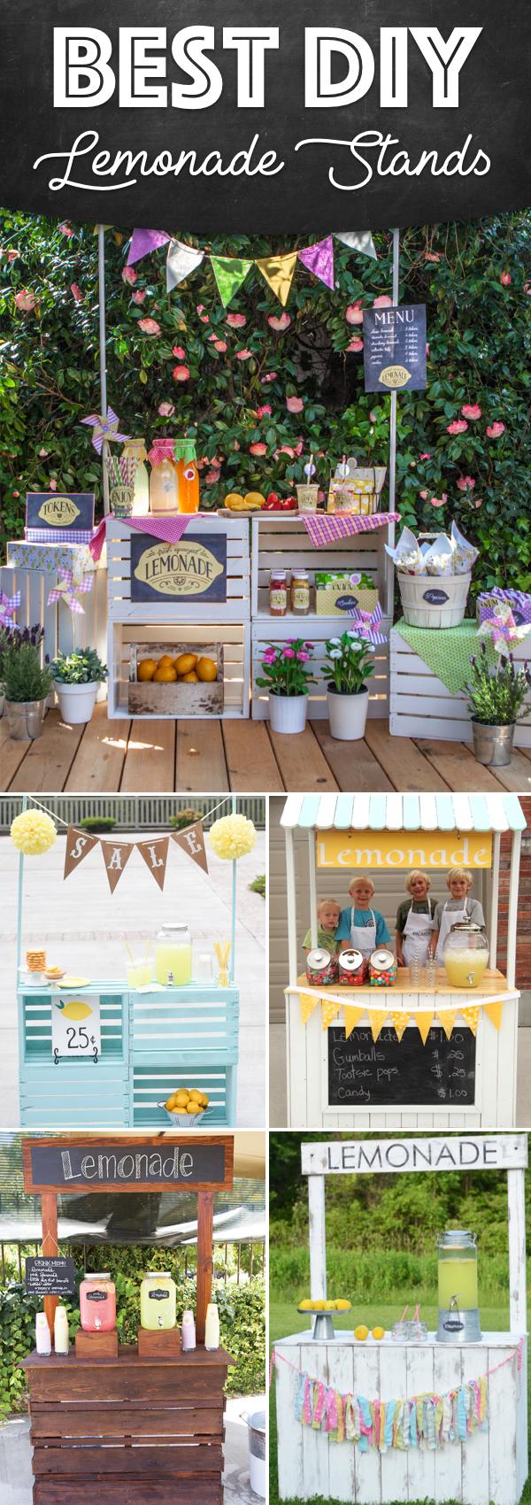25 effortless diy lemonade stand ideas making your summer for Cool lemonade stand ideas