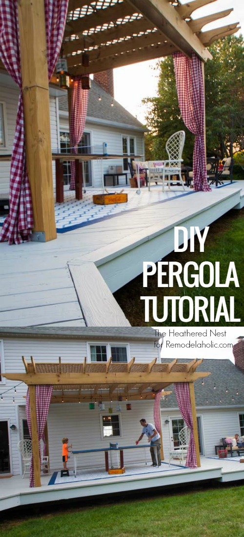 DIY Pergola Tutorial