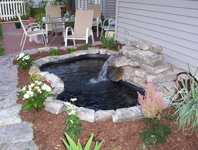 diy water garden and koi pond - Diy Garden Pond Ideas