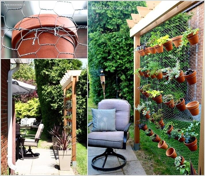 Hex Wire Vertical Garden