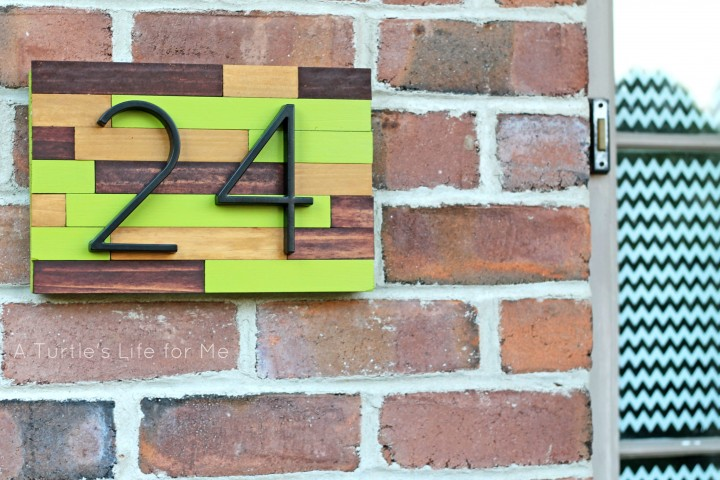 20 awe inspiring diy house number ideas displaying your - House number plaque ideas ...