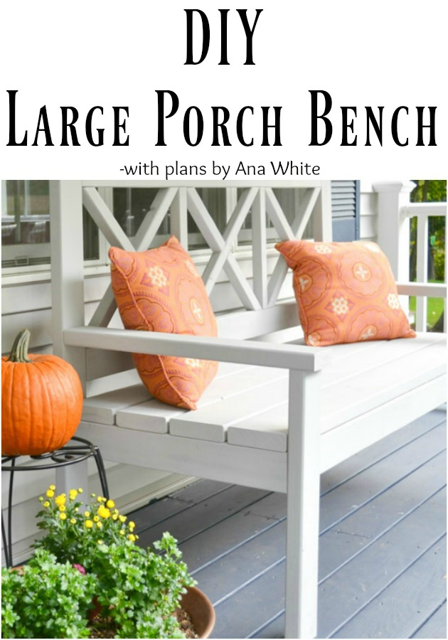 Large Porch Bench