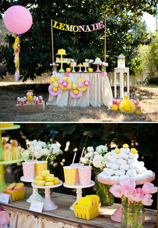 Lemonade Dessert Table