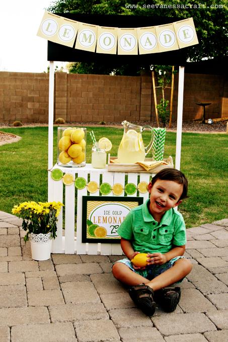Lemonade-Hued Crate Stand