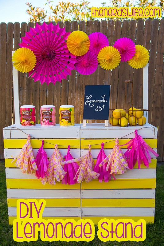 Lemonade Stand with Paper Fans