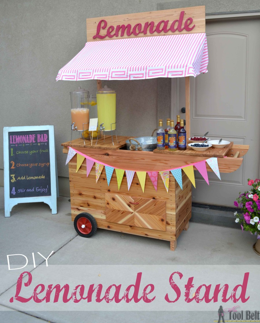 Lemonade Stand with Wheels