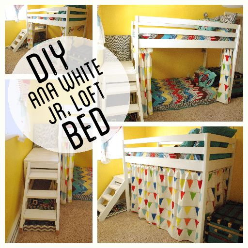 Loft Bunk Bed with Stairs