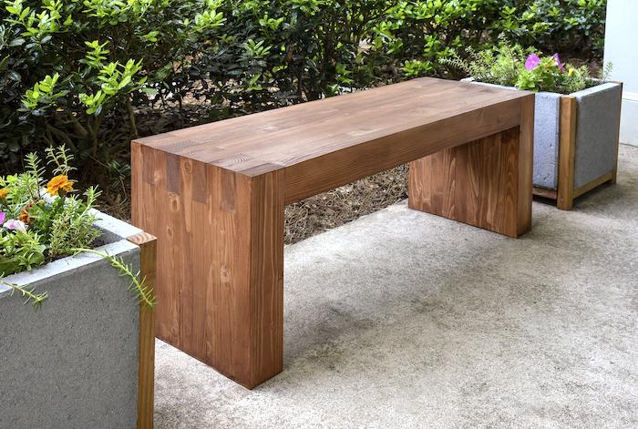 Modern DIY Outdoor Bench