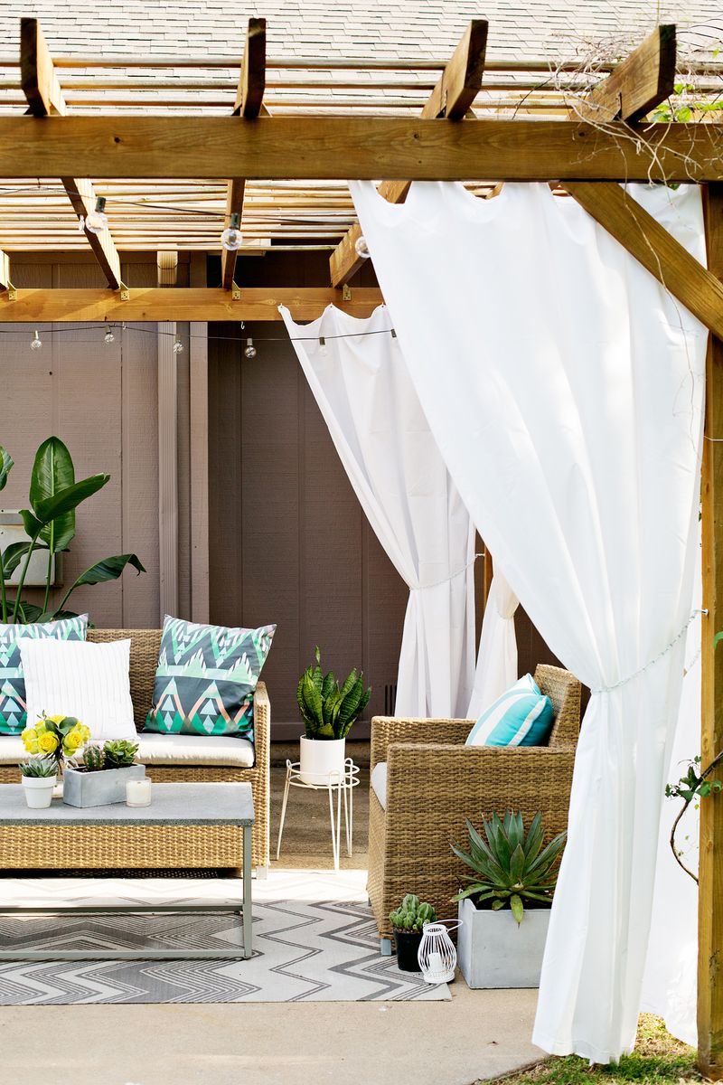 Outdoor Pergola Curtains