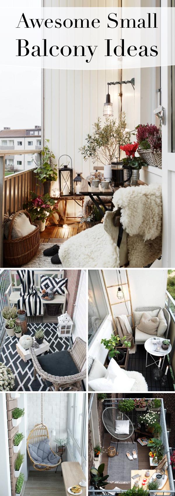 20 Awesome Small Balcony Ideas