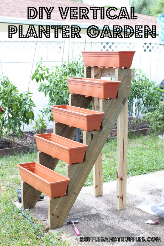 Stair Planter Box Garden
